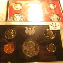 1972 S & 79 S U.S. Proof Sets in original plastic as issued, no boxes. Some minor toning.
