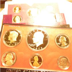 1978 S & 90 S U.S. Proof Sets in original cases as issued. Some minor toning.