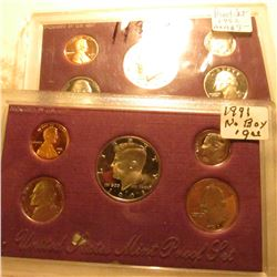 1991 S & 1992 S U.S. Proof Sets in original plastic as issued, no boxes. Some minor toning.