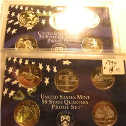 1999 S & 2008 S U.S. Proof Statehood Quarters Proof Sets. No boxes, in original plastic.