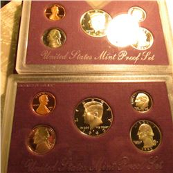 1992 S & 93 S U.S. Proof Sets in original cases as issued. Some minor toning.