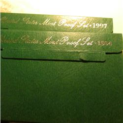 1994 S & 97 S U.S. Proof Sets in original cases as issued. Some minor toning.