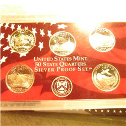 2006 S U.S. State Quarters Silver Proof Set. In original holder as issued.