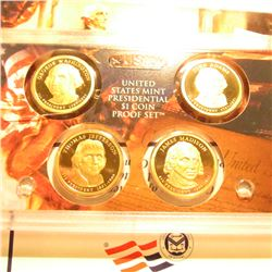 2007 S U.S. Four-piece Presidential Dollar Proof Set. Original as issued.
