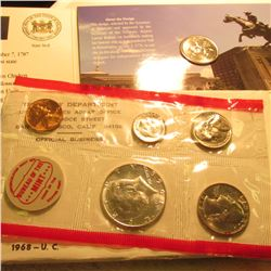 1999 D Delaware Coin Collector Set, Volume 1 & 1968 Partial U.S. Silver Half Dollar Mint Set, with n