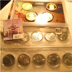 2008 S U.S. Four-piece Presidential Dollar Proof Set. Original as issued; & (2) Five-Piece Iowa Stat