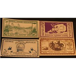 "Four-Piece June, 1925 ""George junior Republic"" Scrip ""Nothing Without Labor"". All AU to Crisp Unc."