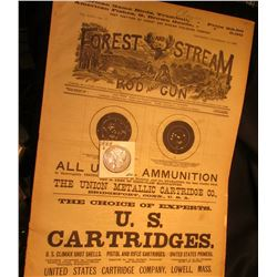 "Nov. 15th, 1888 ""Forest and Stream Rod and Gun"" Magazine & 1888 San Francisco Mint Morgan Silver Dol"
