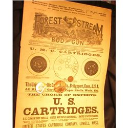 "Thursday, August 30, 1888  ""Forest and Stream Rod and Gun"" Magazine & 1888 Indian Cent, Good; Medal"