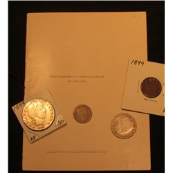 """Copyright 1899 """"The Commercial National Bank of Chicago"""" Booklet, Mint condition with cord type ribb"""