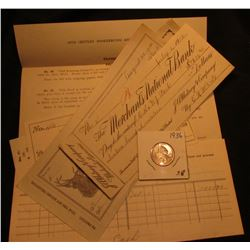 "Feb. 20, 1911 receipt drawn on ""Merchant's National Bank"" for use in ""20th Century Bookkeeping and O"