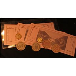 """Depression Scrip 25c, 50c, & $1.00 Series 33A """"Horseshoe Curve, Pa.""""; Wright & Son, medal with Chief"""