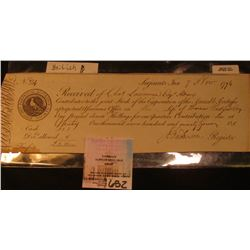 "Nov. 1794 Scrip ""Serjeants Inn"" ""Perpetual Assurance Amicable Society"" Stock. Signed with seal."