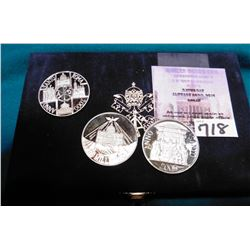 3 Piece set .925 Silver Proof Papal Medals Celebrating the Millennium in 2000 Original as Issued.