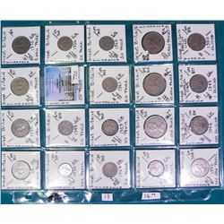"(20) Great Britain Coins attributed by Country, KM #, Size, Mintage, and etc. in 2"" x 2"" holders and"