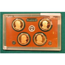 2012 S Presidential Proof Set. In the original plastic case. No outer box.