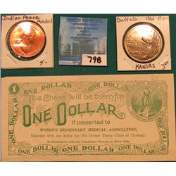 "One Dollar Scrip ""World's Dispensary Medical Association…Doctor Pierce Clinic of Urology…Buffalo and"