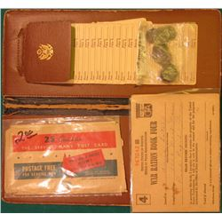 """War Bond Wallet and Register"" with World War II O.P.A. War Ration Book Four; & a group of (12) Worl"
