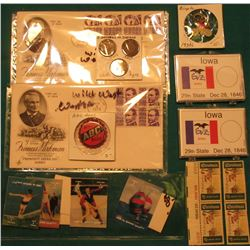 "(8) Piece Set of ""Hologram"" Style Stamps from Umm-Al-Qiwain, all depict different sports; ""3.2% ABC"