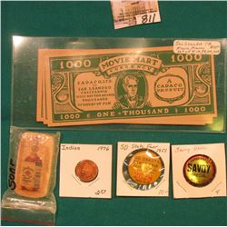 "$1000, $5000, $10000, $50000 ""Movie Mart Currency Cadaco, Ltd. Of San Leandro California Will Pay th"