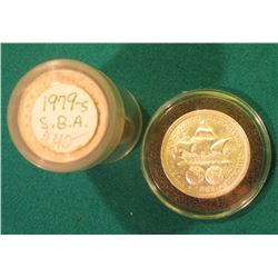 1979 S Gem BU (25 pc.) Roll of Susan B. Anthony Dollars in a plastic tube; & 1893 Columbian Expositi