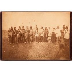 "Photograph titled ""War Dance"" (Sioux) by D.F. Barry"