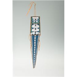 "Ute Fully Beaded Tab Bag, 20 ½"" overall"