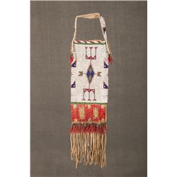 "Sioux Beaded and Quilled Pipebag/Dispatch Bag, 29"" long"