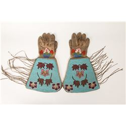Pair of Plateau Beaded Gauntlets