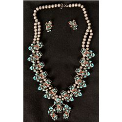 Zuni Necklace with Matching Earrings