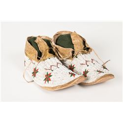 "Cheyenne Beaded Man's Moccasins, 10 ¼"" long"