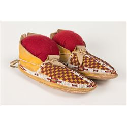 "Cheyenne Beaded Woman's Moccasins, 9"" long"