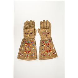 """Santee Sioux Quilled Gauntlets, 16 ½ """" x 8"""""""
