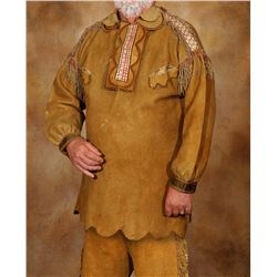 "Metis Quilled Man's Shirt and Trousers, 40"" long"