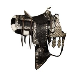 Unmarked, Black Tooled Parade Saddle