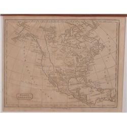 Old map interesting old times North America