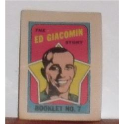 1971-1972 Vintage The Ed Giacomin Story Comic Booklet #7