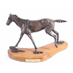 Praire Mustang by J.C. Dye Horse Bronze