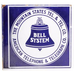 Mountain States Bell Telephone Porcelain Sign