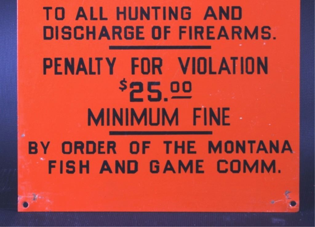 Montana fish and game commission signs for Montana game and fish