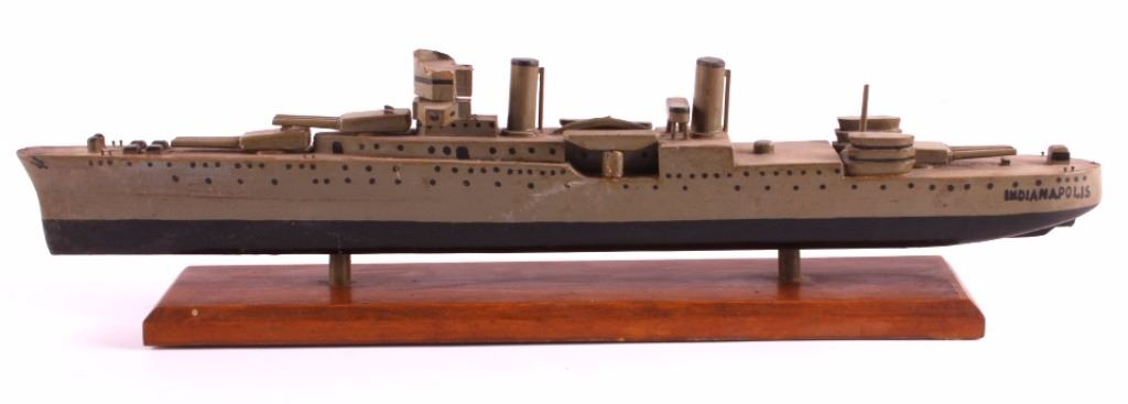 Folk Art Model Of Uss Indianapolis