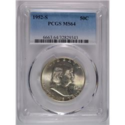 1952-S FRANKLIN HALF PCGS MS-64