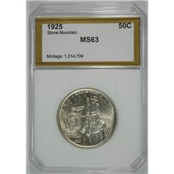 1925 STONE MOUNTAIN HALF DOLLAR, PCI CHOICE BU