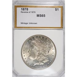 1878 REV. OF 79 MORGAN DOLLAR PCI GEM BU