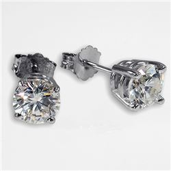 1 ct Diamond Earrings, SI1-SI2 Clarity (0.9 - 1.09 cts)  w/ Black Jewelry Box