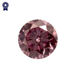 Fancy Intense Purplish Pink Round Shape, VS2 Clarity Diamond (.20 Carat) GIA Cert: 2165713383