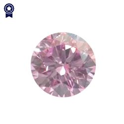 Fancy Pink Round Shape, I1 Clarity Diamond (.27 Carat) GIA Cert: 2165694221