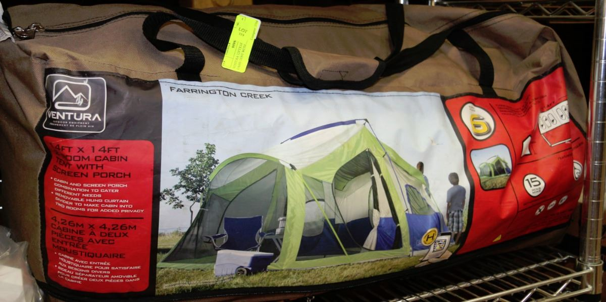 Image 1  VENTURA 14FT X 14FT 2 ROOM CABIN TENT WITH SCREEN : ventura cabin tent - memphite.com