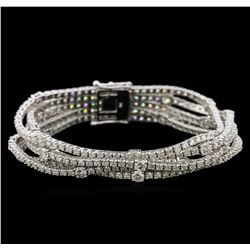 15.57ctw Diamond Bracelet - 18KT White Gold