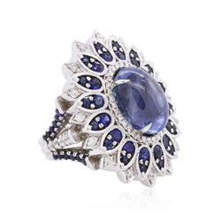 18KT White Gold 13.89ctw Sapphire and Diamond Ring